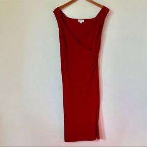 Ann Taylor LOFT Red Sleeveless Dress | 12